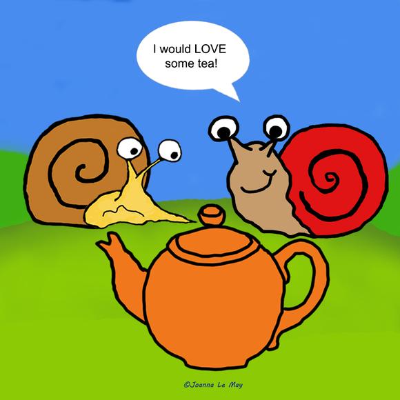 Le cousin Bob dit qu'il aimerait un thé en anglais.