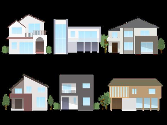 様々な新築住宅の施工例のイラスト