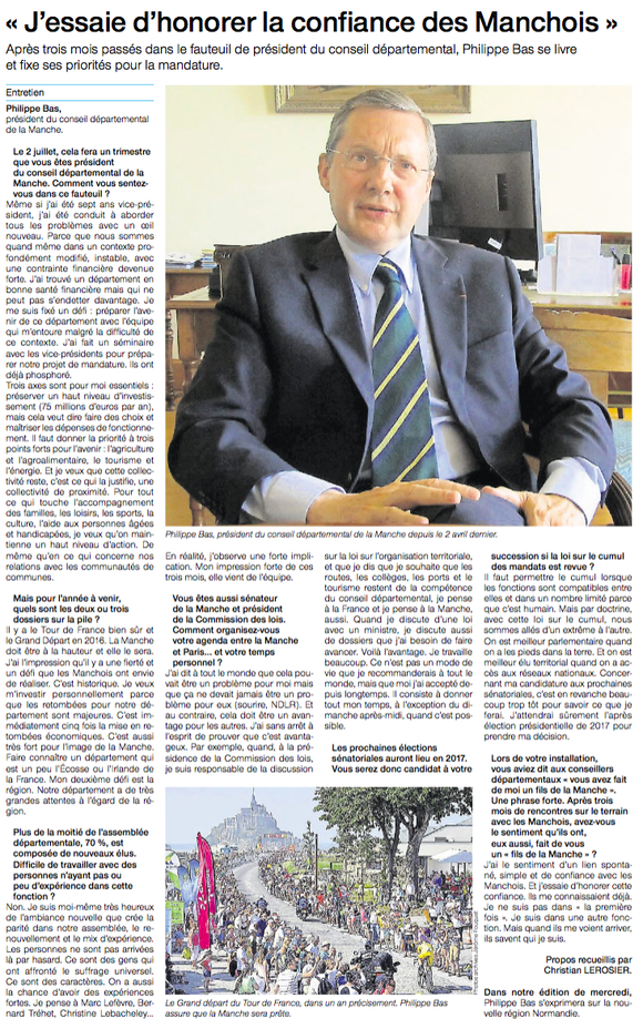 Ouest-France, 30/06/2015