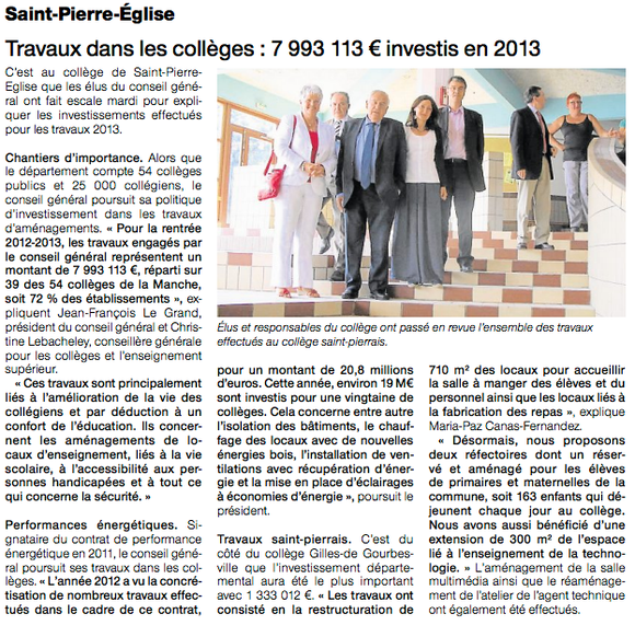 Ouest-France, 28.08.2013