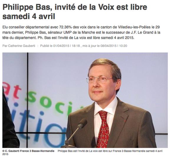"""Revoir l'émission """"La Voix est Libre sur France"""" du 4 avril 2015 en cliquant sur l'image"""