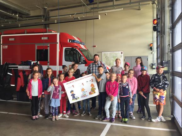 Besuch bei der Feuerwehr in Vilnius und dem Notrufzentrum 112