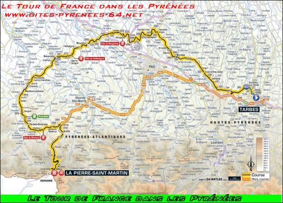 Le Tour de France en Haut Béarn depuis www.gite-oloron.com
