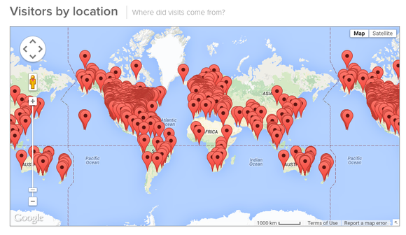 Here is a world map of our participants and consultations in 2015!