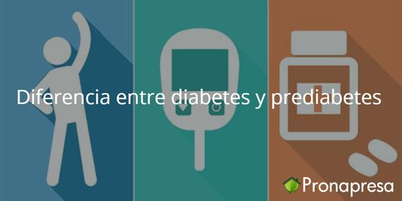 Diferencia entre diabetes y prediabetes
