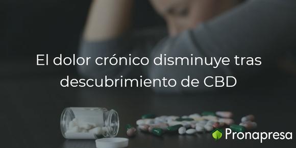El dolor crónico disminuye tras descubrimiento de CBD
