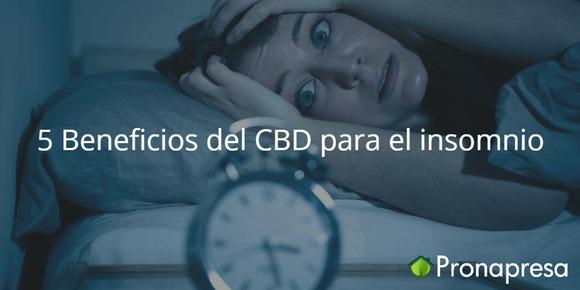 5 Beneficios del CBD para el insomnio