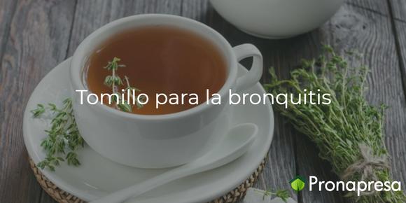 Tomillo para la bronquitis