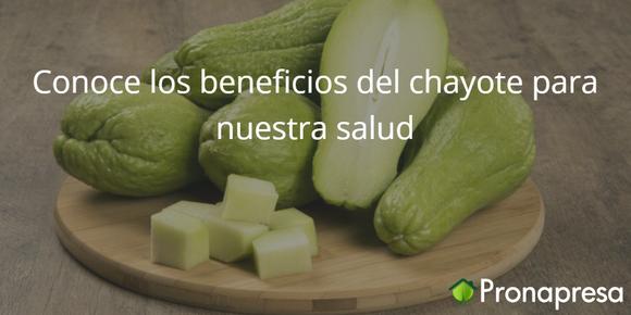 Conoce los beneficios del chayote para nuestra salud