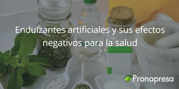 Endulzantes artificiales y sus efectos negativos para la salud