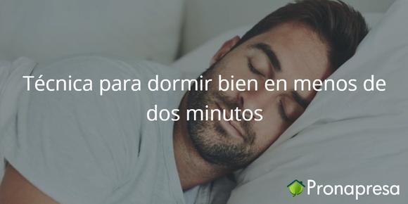 Técnica para dormir en menos de dos minutos