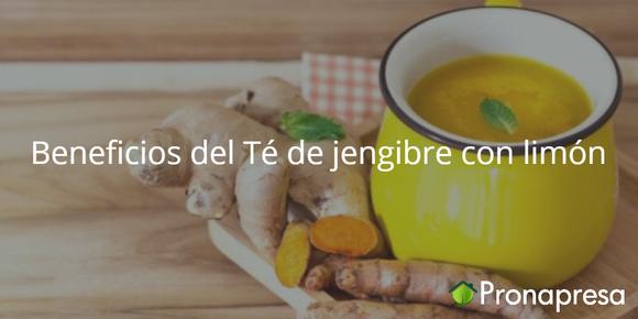 Beneficios del té de jengibre con limón