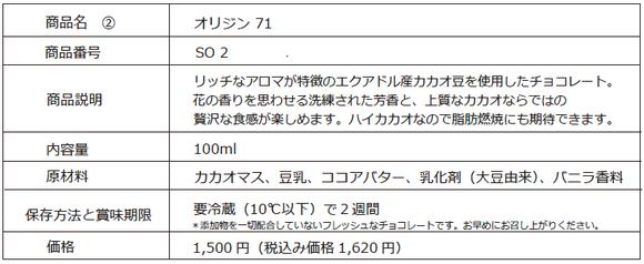 chocolip オリジン71
