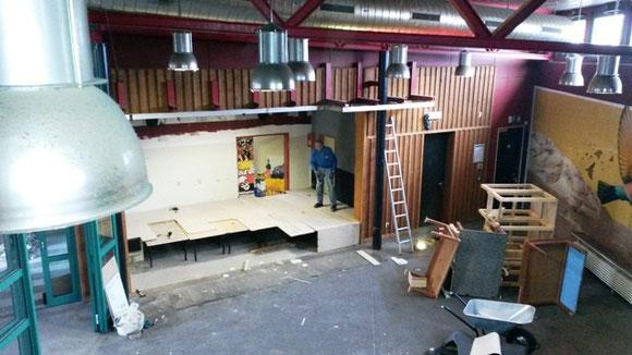 Baueinsatz in der neuen Oase