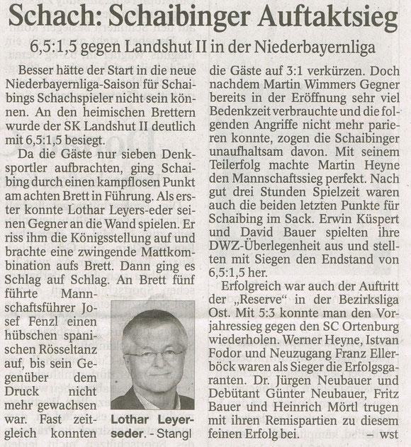 NBL, 1.Runde, Landshut2-Schaibing 1