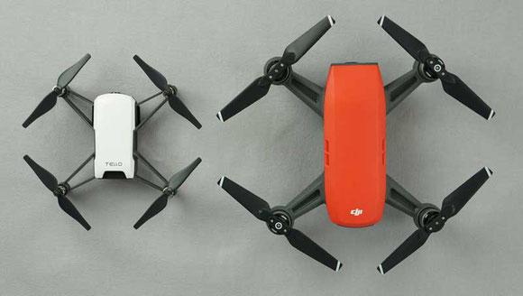 Tello dron en comparación con su primo mayor el DJI Spark conócelos