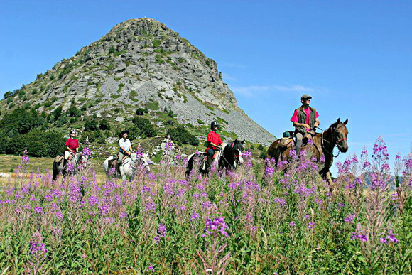 Balade équestre au mont Gerbier de Jonc