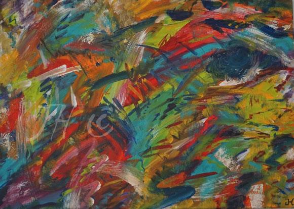 JH8F: Acryl auf Leinwand, Abmessungen [cm]: 70x50x1,5