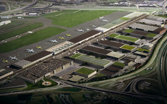 According to the masterplan (image), the cargo area at Brussels Airport will be completely rebuilt  -  company courtesy