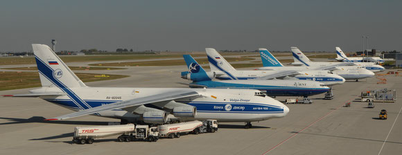 Volga-Dnepr and Antonov Airlines will continue flying for the EU / NATO but on their own account  -  picture LEJ
