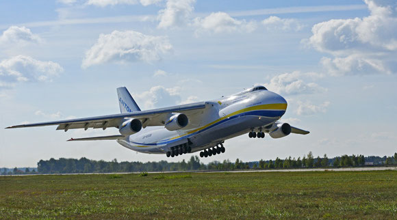 The mighty AN-124 freighter is Antonov's flagship  -  courtesy Antonov