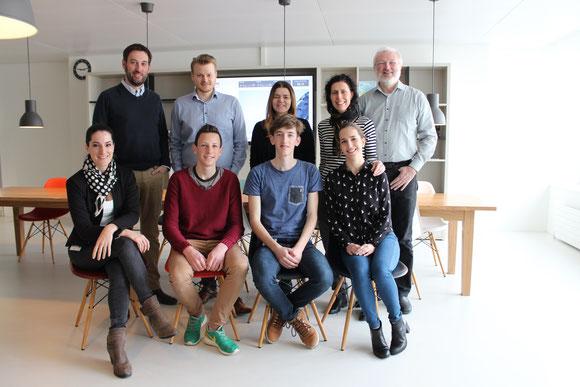 SWC's communications team: Upper row (l > r): Alain Guerin, Daniel Wyssen, Silvia Cappelli, Maria Campanella, Rudolf Berger  /  bottom row (l > r): Alexandra Dahl-Augustin, Remo Geiger, Matteo Lazzarotto, Bianca Indergand.