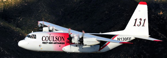"Pictured is a C130 ""Airtanker"" operated by Coulson Aviation  -  company courtesy"