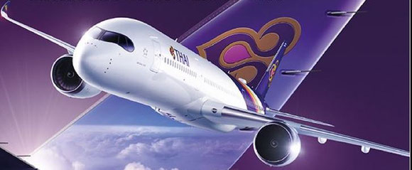 Thai's newest flagship A350-900 will serve BKK-FRA beginning in May  -  company courtesy