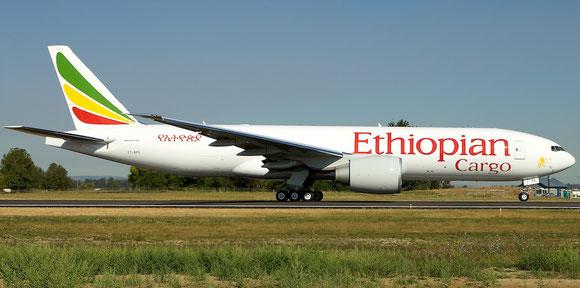 Boeing 777F of Ethiopian Cargo  -  company courtesy