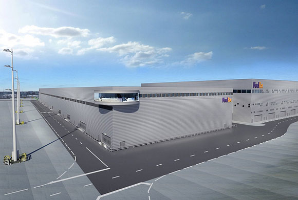 Future FedEx facility at Paris Charles de Gaulle  -  courtesy FedEx