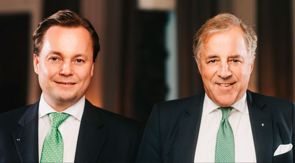 Left: Thomas Knecht - Spokesman for the Board of Management Right: Jost Hellmann - Managing Partner
