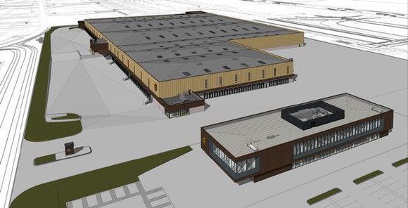 Impression of upcoming East Midlands hub of integrator UPS  -  pictures: UPS