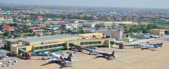 Phnom Penh International Airport  -  company courtesy