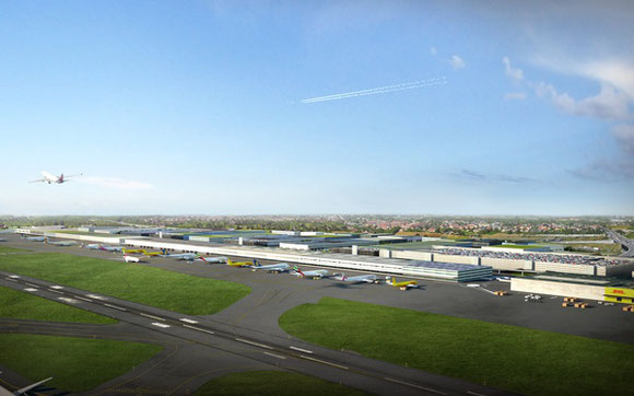 Image of new cargo area at Brussels Zaventem  -  company courtesy