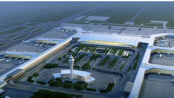 Mock-up of Guangzhou's new terminal