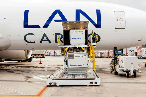 Temp critical goods are main products transported by LATAM Cargo - pictures: LATAM Cargo