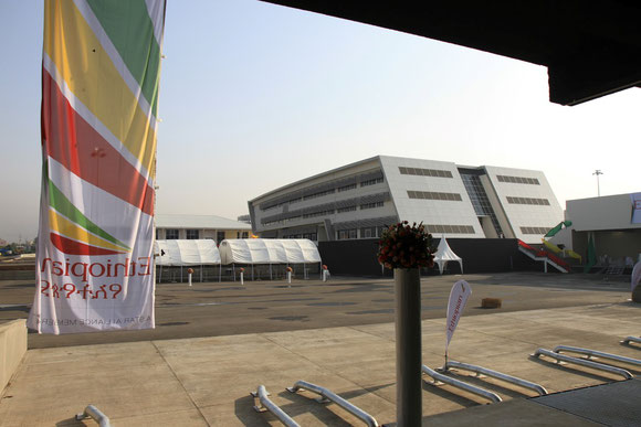 Sight of Ethiopian's new Cargo Terminal-II  -  courtesy S. Schoebel