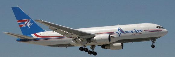 Amerijet will operate Boeing 767Fs on the segment MIA-BRU-MIA  -  company courtesy