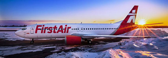 First Air Boeing 737-400 in icy Canadian environment