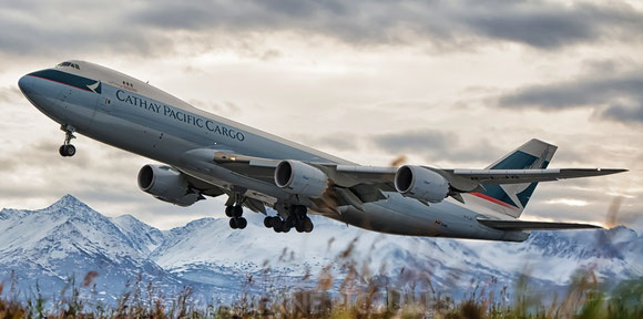 Will some of Cathay's freighters be shifted to daughter Dragon? Shown here is one of the carrier's Boeing 747-8Fs  -  company courtesy