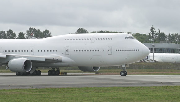 Former Transaero now U.S. Air Force 747-8 at Everett's Paine Field Airport, Washington State  -  courtesy Boeing