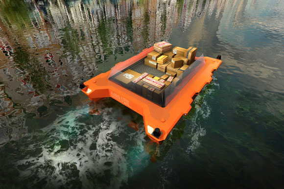Roboats will plough Amsterdam canals sometime next year.