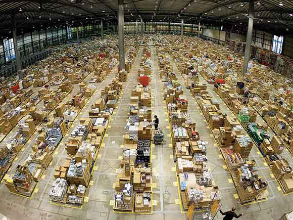 The volumes 'they are a-changin' – as seen here in Amazon's fulfillment center  -  company courtesy