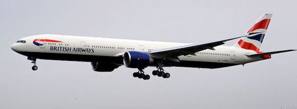 British Airways will use a Boeing 777 instead of their 747 on flights to Sao Paulo.