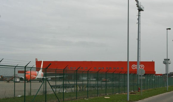 Time seems to be over for TNT's dominant orange colours at Liege Airport