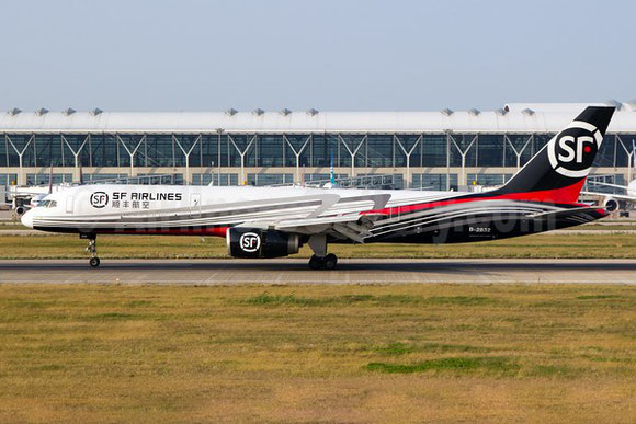 Pictured above is one of SF's nineteen Boeing 757-200 freighters  - credit SF Airlines