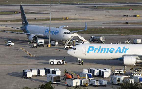 Hotly debated issue: When will Amazon start operating their Atlas Air leased B767 'Prime Air' freighters across the North Atlantic? -  Photo: Amazon