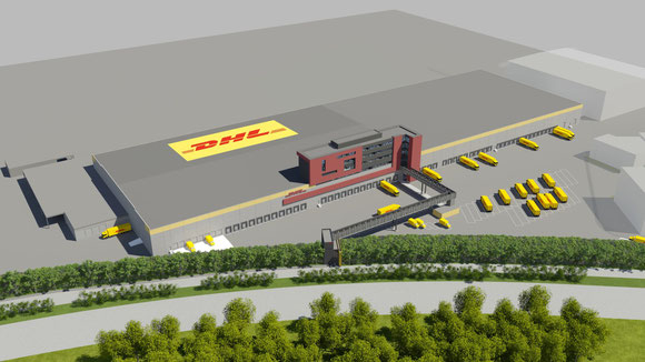 Image of future DHL Brussels hub  -  credit: DP-DHL