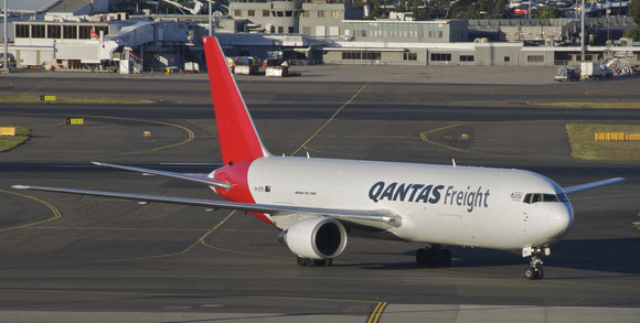 "Qantas Freight will use a B767-300F on the ""milk route"" to China"