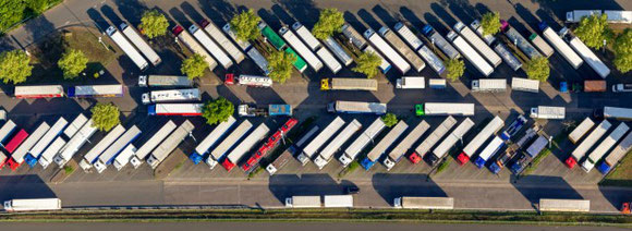 Trucks parked at congested and unguarded parking lots are often targeted by cargo thefts